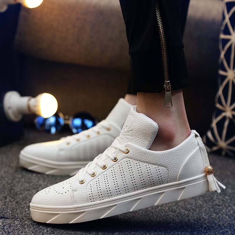 2017 Summer Cool Canvas Espadrille Men Casual Shoes Breathable Nude White Tassel Skull Print Zapatillas Deportivas Hombre