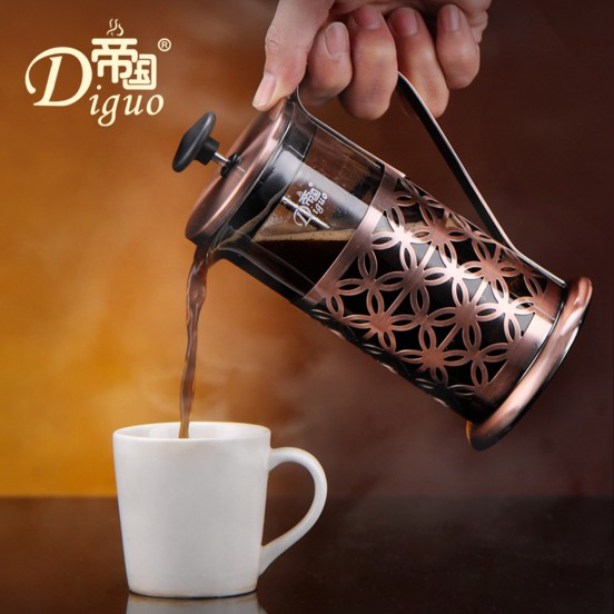 Diguo Coffee Pot Method Stainless Pressure Pot Stainless Steel Tea Household Coffee Pot tea pot placemat