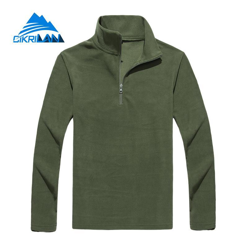 New Mens 1/4 Zip Lightweight Bodywarmer Jackets Outdoor Sport Hiking Camping Climbing Fleece Jacket Men Fishing Trekking Coat