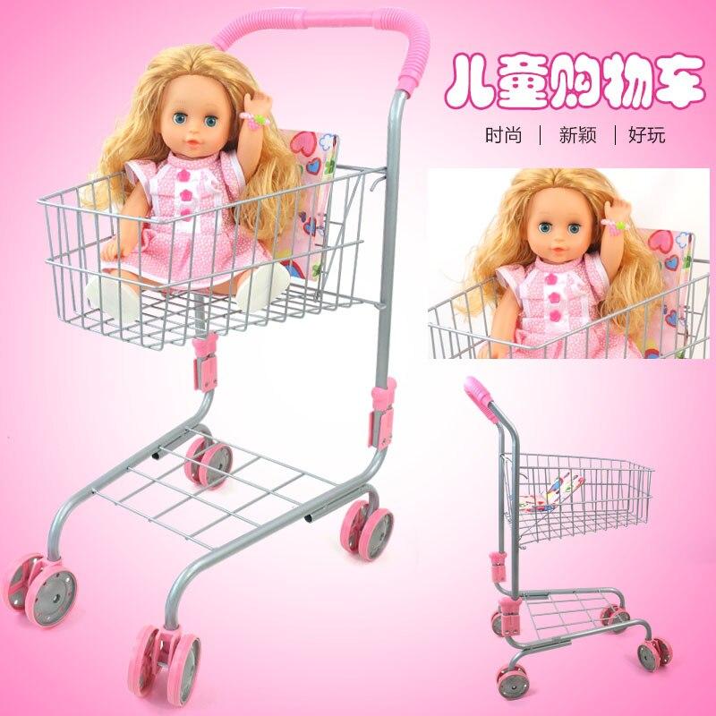 Play House Cart Boy Girl Child Simulation Supermarket Trolle