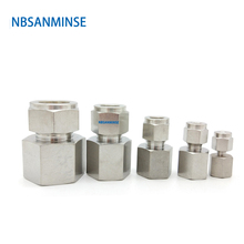 5 Pcs / Lot FC Type Female Connector Stainless Steel 316L Tube Fitting Plumbing Fitting High Quality Sanmin