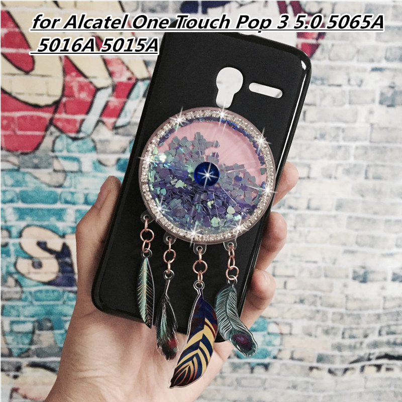Динамический зыбучие пески телефон чехлы для Alcatel One Touch Pop 3 5,0 5065A 5016A 5015A мягкий силиконовый оригинальный задняя крышка coque