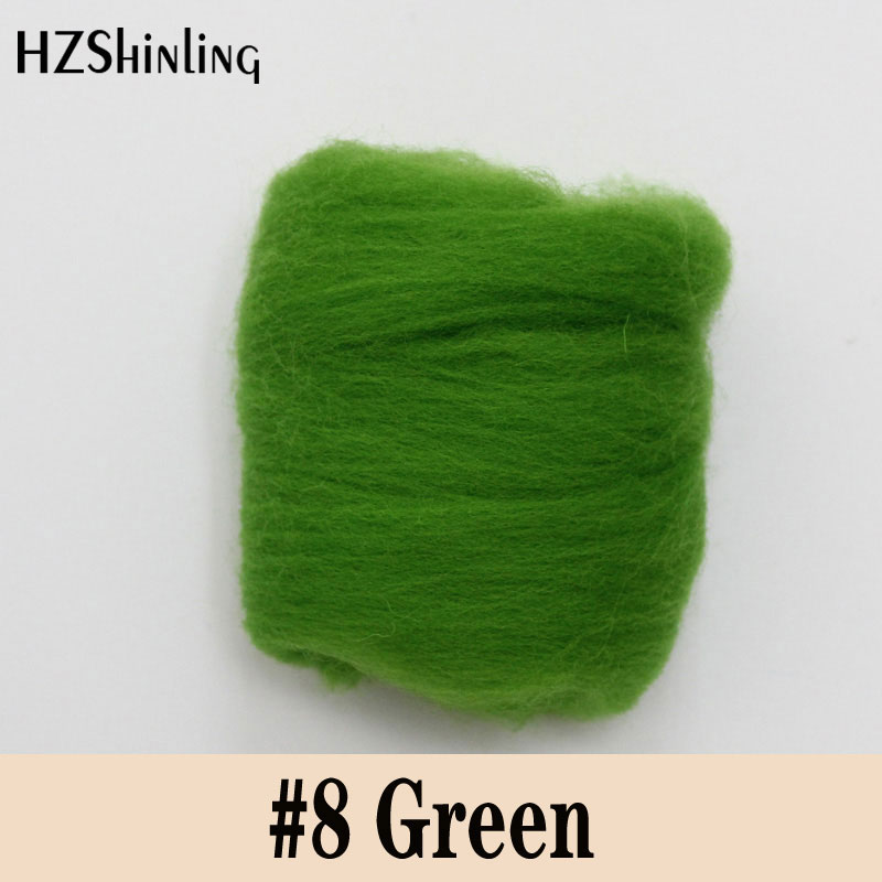5 G Super Soft Felting Short Fiber Wool Perfect In Needle Felt And Wet Felt Natural Green