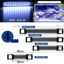 Extendable Brackets Aquarium Fish Tank 36/54/72/90 LED Light Blue&White 30/40/50/60CM 2835SMD Bar Submersible Clip Lamp Decor