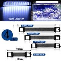 Extendable Brackets Aquarium Fish Tank 36/54/72/90 LED Light Blue&White 30/40/50/60CM 2835SMD Bar Submersible Clip Lamp Decor
