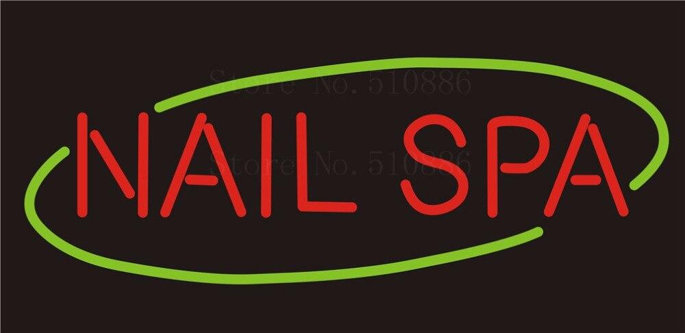 Custom NEON Sign Board Nail SPA Glass Tube Beer Party Bar Club Pub ...