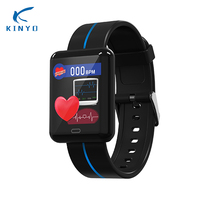 2018 new arrival heart rate blood pressure smartband waterproof fitness bracelet women caring smart wristband pk xaomi miband 3