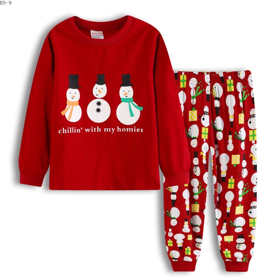 21 Style Childrens s Home Clothing 2pcs Pajamas Suit Girls Boys Autumn  Winter Sleepwear Kids Long Sleeve 0e243184f