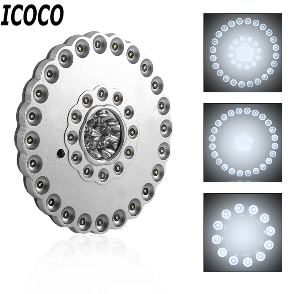 ICOCO 1pcs 41 LEDs 3 Mode Switch Outdoor High Brightness Camping Lamp 36+5LED Tent Light BF-513 Promotion Sale