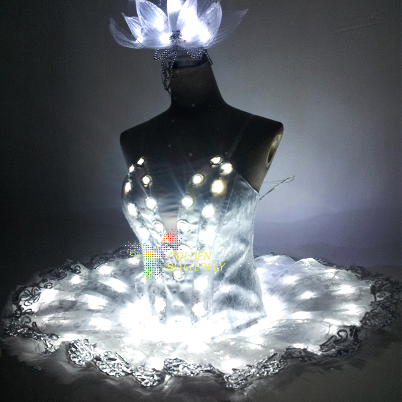 LED Clothing Luminous Costumes Fashion Glowing Women Skirt Tutus Ballet Illuminated Clothes Patrick's Valentine's Day Halloween