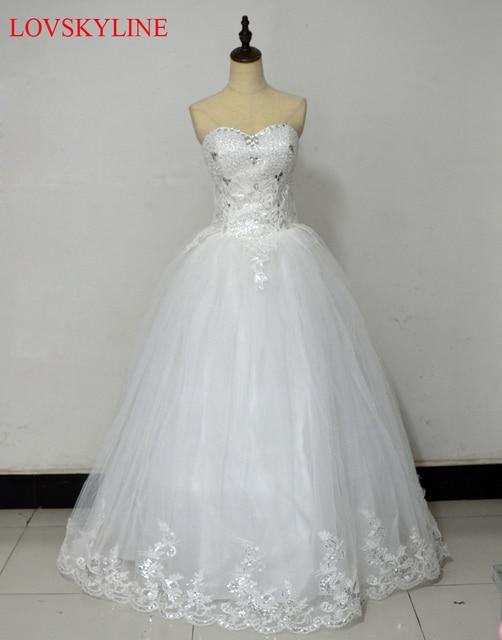2018 bride Beading rhinestone wedding dress formal dress sparkling ...