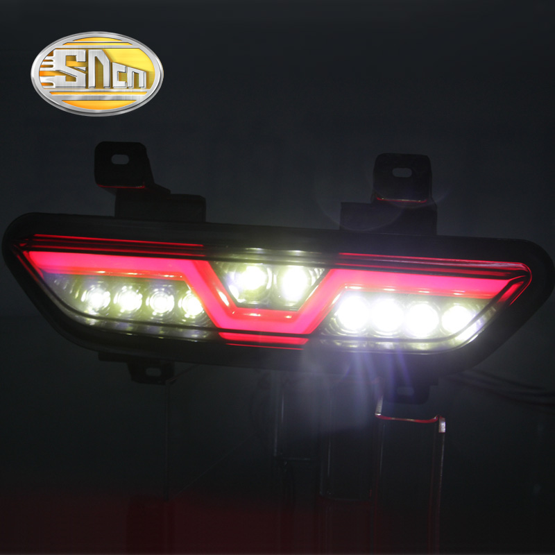 For Ford Mustang 2017 2018 SNCN Multi-functions Car LED Tail  Light Rear Fog Lamp Reverse Light Auto Bulb Brake Light Reflector ford mustang v6 2011
