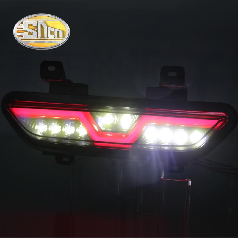 For Ford Mustang 2017 2018 SNCN Multi functions Car LED Tail Light Rear Fog Lamp Reverse Light Auto Bulb Brake Light Reflector