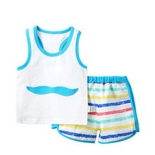 2016 Newest 2 piece Set Baby Girl Pants Blouse Summer Style Newborn Clothing Sets Boy Cotton Monsters Bebes Conjuntos No.1