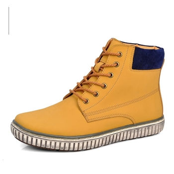 Nice Great Nice New Fashion  Autumn & Winter Men Casual High-Top Shoes British Cow Leather Boots Waterproof Warm Boots 2221