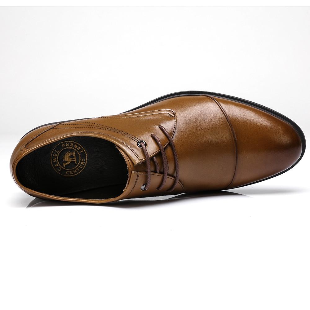 Wielbłąd mężczyźni ubierają buty prawdziwej skóry buty dla mężczyzn biznes praca miękkie męskie formalne włoski buty ślubne człowiek zapatos hombre w Buty wizytowe od Buty na  Grupa 2
