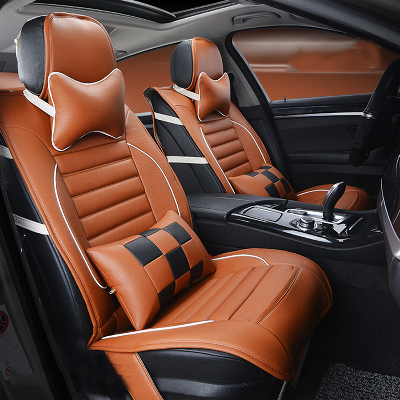 New Luxury PU Leather Auto Universal Car Seat Covers Automotive Seat Covers for Opel Astra h j gmokka insignia mokka corsa amper for opel astra h g opel insignia corsa small hole ventilate wear resistance pu leather front