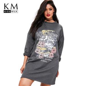 d8c1534fe7 kiss milk Women Sweatshirts Long Female Pullovers Clothing