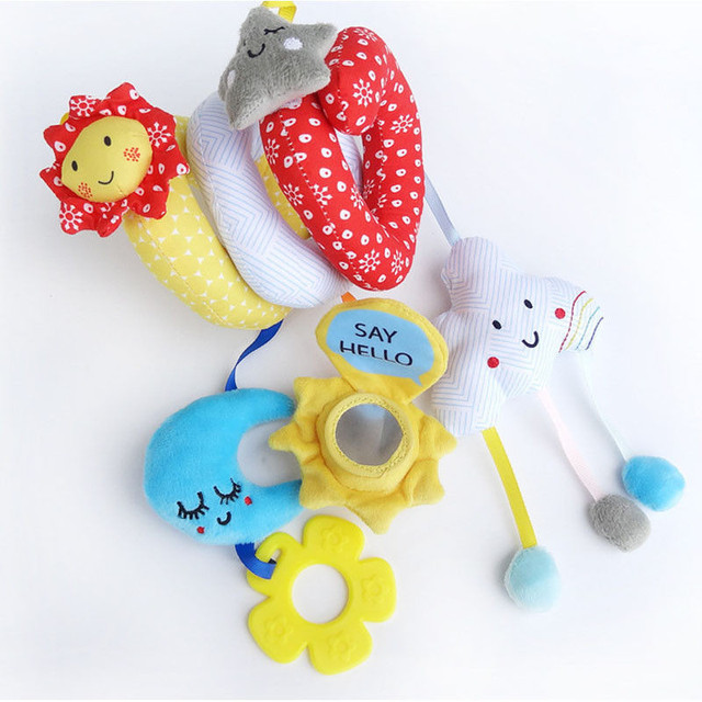 New Activity Spiral Stroller Car Seat Travel Lathe Hanging Toys Baby Rattles Toy