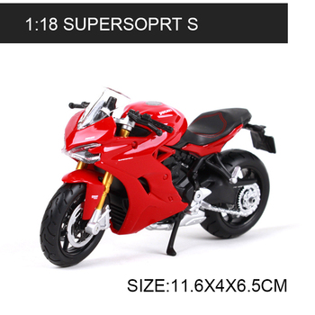 цена на Maisto 1:18 Motorcycle Models Ducati Supersport S Red Diecast Plastic Moto Miniature Race Toy For Gift Collection