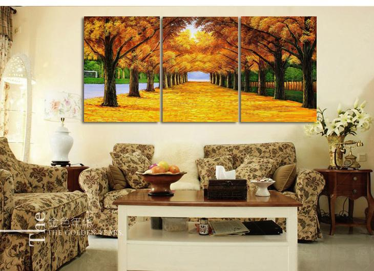 Hand painted modern abstract money tree canvas wall art oil painting ...