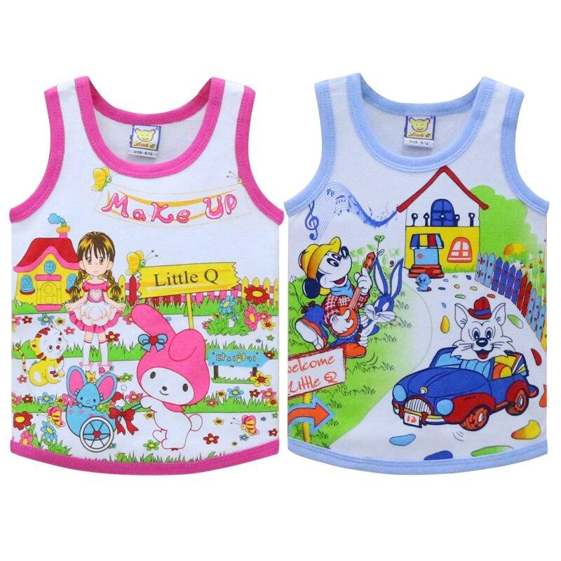 Verantwoordelijk Kinderen Tops Voor 2-4 Jaar Oude Baby 100% Puur Katoen Little Q Mouwloze Shirts 2019 Zomer Blouse Up-To-Date Styling