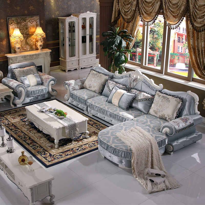 Living Room European Sectional Sofa Set