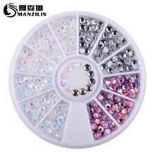 1 Box kolorowe 3D Jelly AB akrylowe koło z ozdobami na paznokcie dekoracyjne naklejki DIY tipsy biżuteria dżetów narzędzia do Manicure