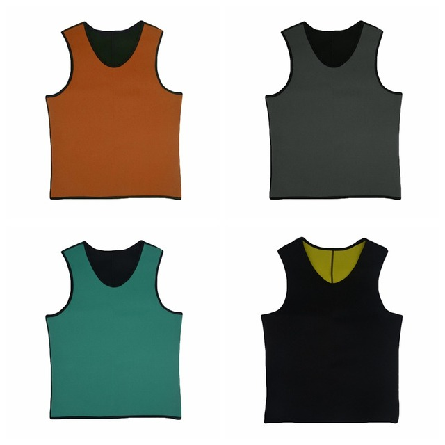 New Men Running Vests Weight Loss Mens Body Shaper Vest Trimmer Tummy Shirt Hot Girdle New Arrival Size M-3XL 4 Color 5