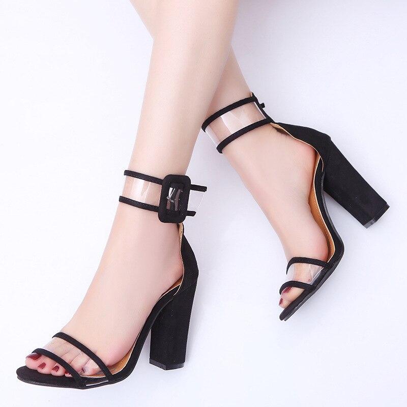 100% Wahr 2018 Neue Mode Frauen Heels Sexy Komfortable Aushöhlen Sandalen Schuhe Frau Schnalle High Heels Peep Toe Damen Schuhe Zapatos Mujer Exzellente QualitäT