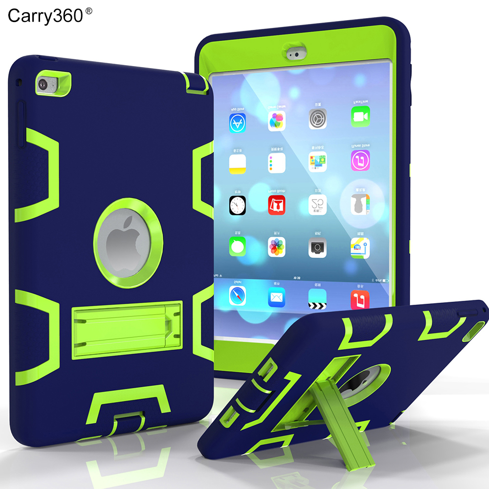 Carry360 For apple ipad Mini 4 case Heavy Duty Plastic+Rubber Smart Cover Case for iPad Mini 4 Cover Hybrid Stand Holder дырокол deli heavy duty e0130