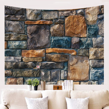 Vintage Bricks Stone Printed Tapestries Mandala Hippie Boho 3D Tapestry Wall Hanging Table Cloth Throw Tapiz Fabric Carpet
