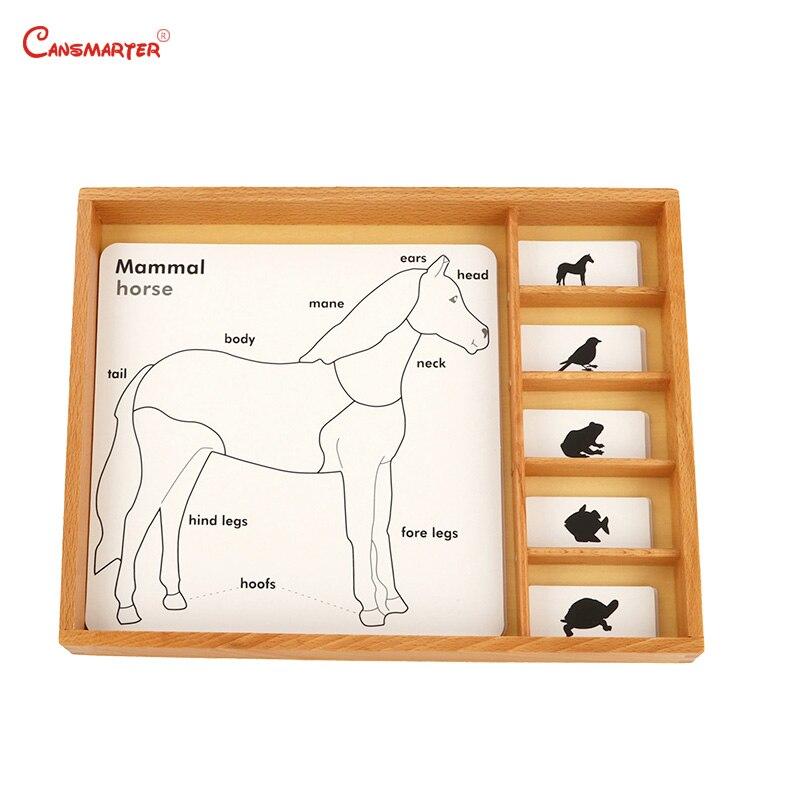 Plantes et animaux en bois Puzzles 3D pour enfants Montessori préscolaire avec bouton conseil enfants maison jouets jeux BO003-3 - 4