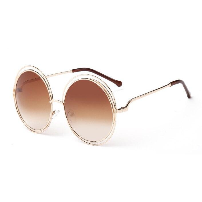 Ideal Vintage Brand Designer Round Sunglasses Classic Oversized large  DH34