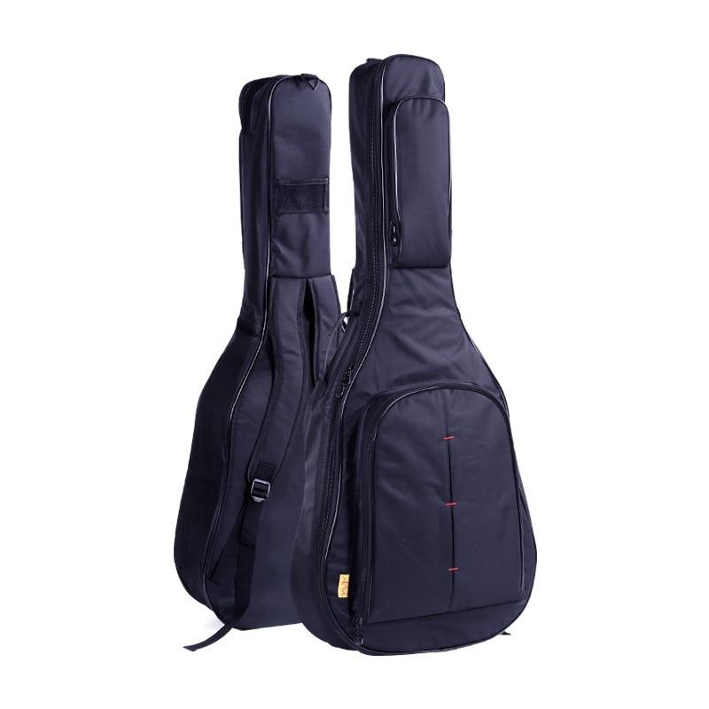 40 41 Inch Folk Guitar Bag Carry Case Waterproof Shockproof Thicken Folk Acoustic Guitar Bags Backpacks