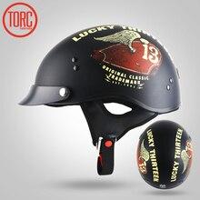TORC BRAND 2017 summer HARLEY Motorcycle Helmet no visor, Jet retro Motorbike Motocross half helmet,pilot scooter helmet DOT