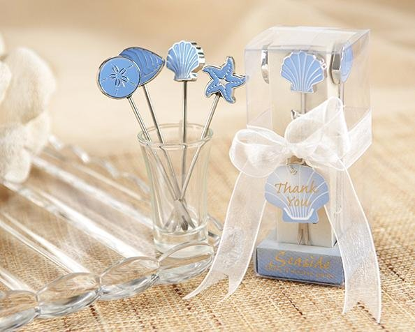 20boxes Blue sea fruit fork starfish shell fish shape 4pcs box wedding favor and gift Wedding