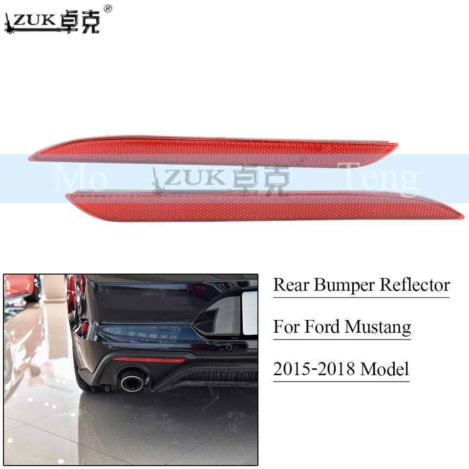 ZUK Rear Bumper Reflector For Ford Mustang U S A Specification 2015 2016 2017 2018 Rear