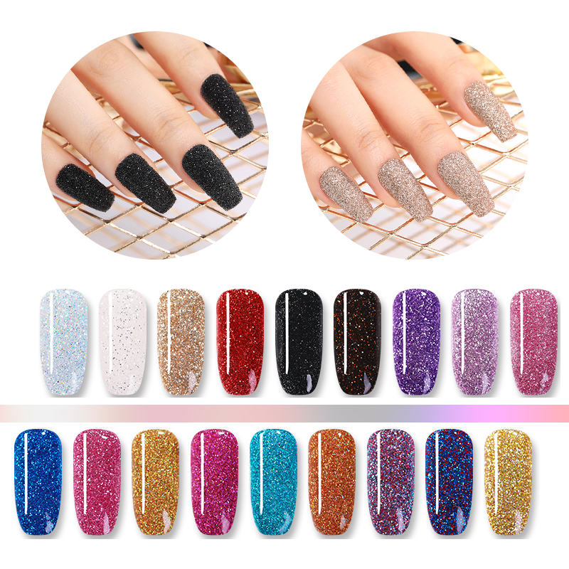Image 5 - NICOLE DIARY 10g Pure Nail Color Dipping Glitter Gradient French Dip Nail Powder Natural Dry Manicure Art Chrome Dust Pigment-in Nail Glitter from Beauty & Health