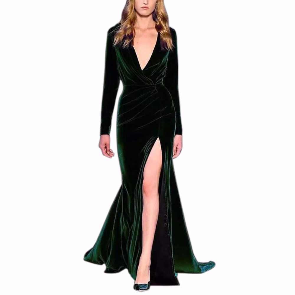 e171620337d10 Detail Feedback Questions about Women Sexy Velvet Dress Long Sleeve ...