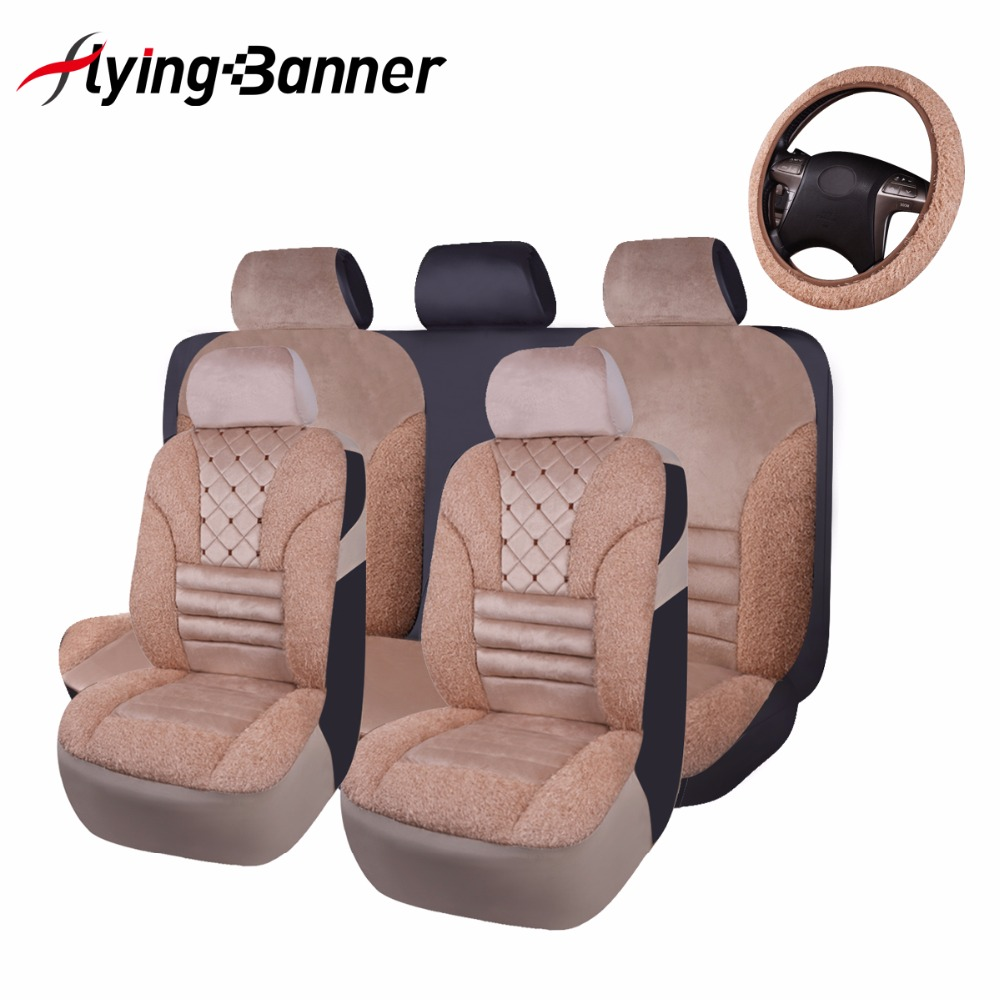 High Quality Artificial Plush Car Seat Covers Universal Fit Car Styling Car Seat Cushion Accessories New Plush Car Pad Cover high quality car seat covers for lifan x60 x50 320 330 520 620 630 720 black red beige gray purple car accessories auto styling