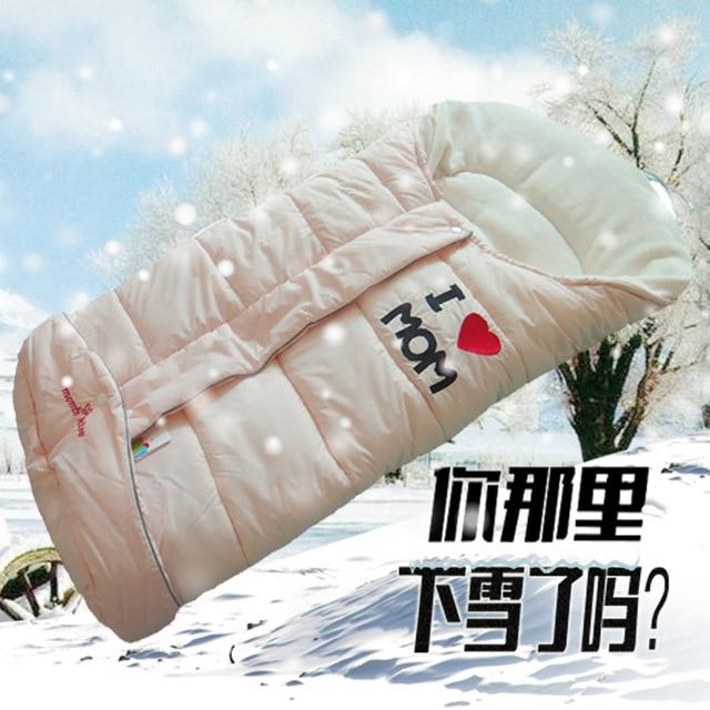 Детские провести детские корзина спальный мешок дети зимой утолщение спальный мешок конверт спальный мешок