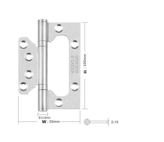2Pcs 4x3 Thickness 2.5mm Stainless Steel hinges Door Positive axis folding hinge Slotless solid wood door hinge free shipping 2 pieces lot antique copper finished 304 stainless steel hinges door hinge antique wood door hinge