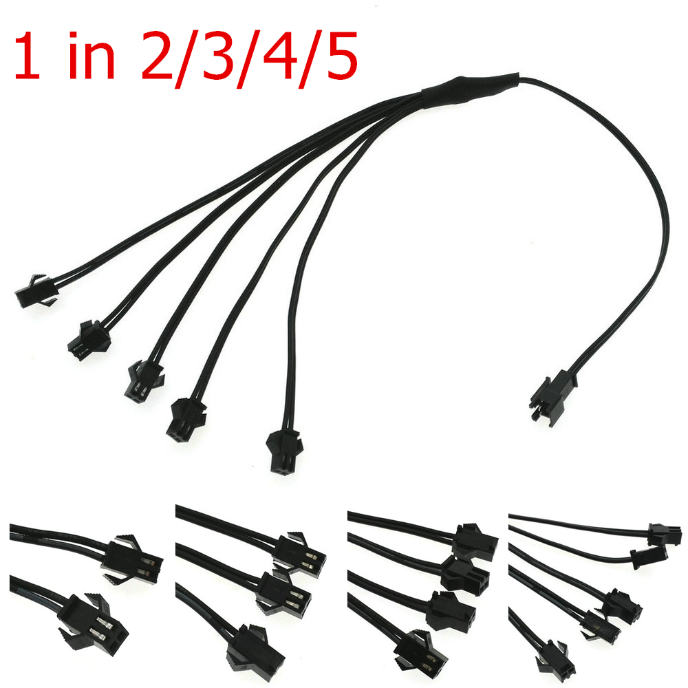 5/4/3/2 In 1 Splitter Cable For EL Wire Neon Light LED Rope Strip Light Conected With Inverter