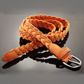 new elastic thin belt women wild solid color knit waist chain belt fashion casual jeans belt