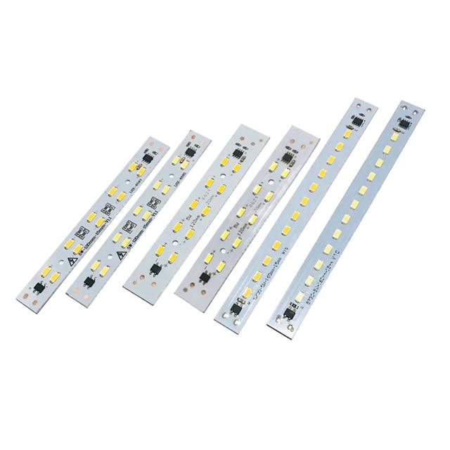 10-50pcs 220V 230V LED Tube Bar Rigid Strip Driverless for T5 T8 Tube 5W 6W 10W AC220V SMD 5730 led pcb Warm White Light Source 1