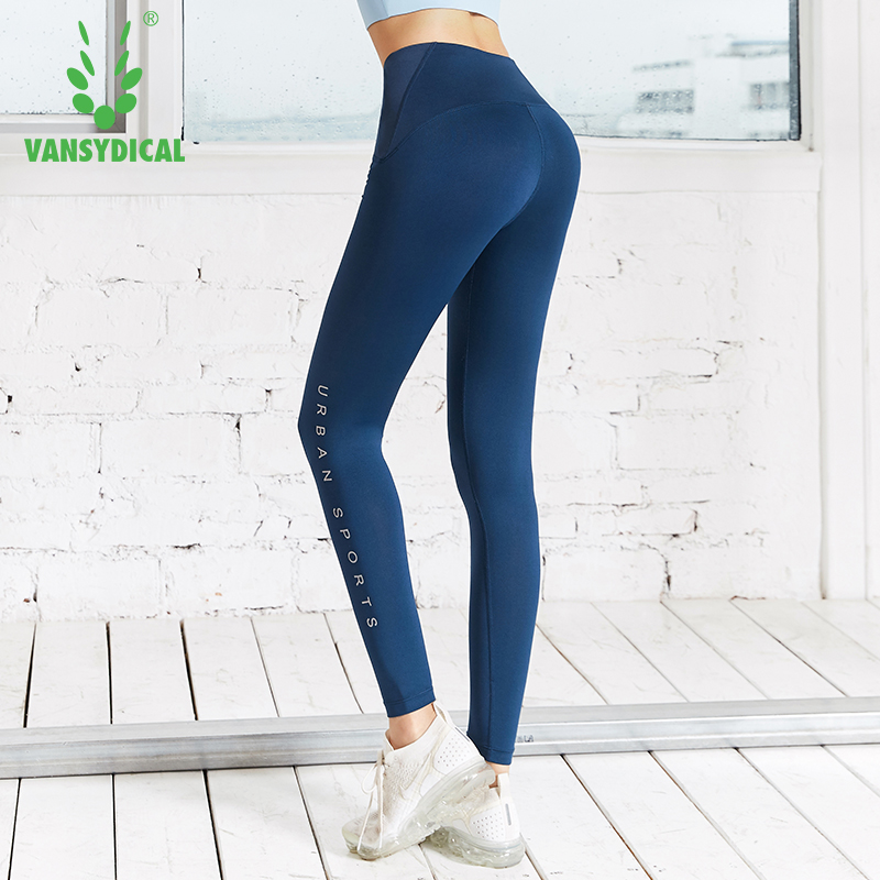 81ff81af85ecf Womens Push Up Yoga Pants Tummy Control Sports Leggings Letters Fitness  Workout Trousers Vansydical 2019