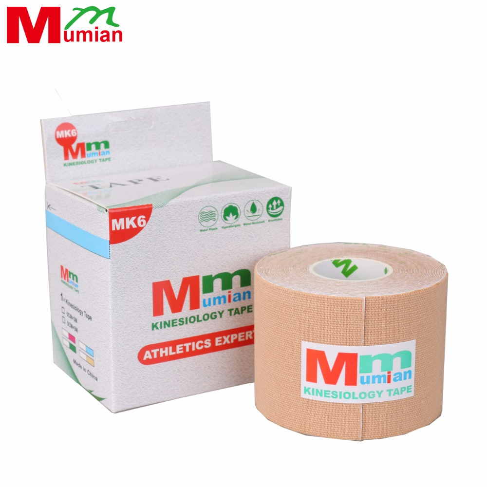 5cm*5m Kinesio Tape Kinesiology Tape Cotton Elastic Adhesive Muscle Tape Sports Tape Roll Care Waist Bandage Support with Case multi color 1 roll 20m marking tape 100mm adhesive tape warning marker pvc tape