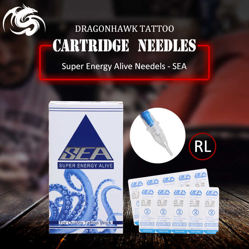 Professional 20 pcs Disposable Sterile Tattoo Cartridge Needles Round Liner Shader Magnum For Rotary Pen Accessories stainless steel 15f flat sterile tattoo needles silver 50 pcs