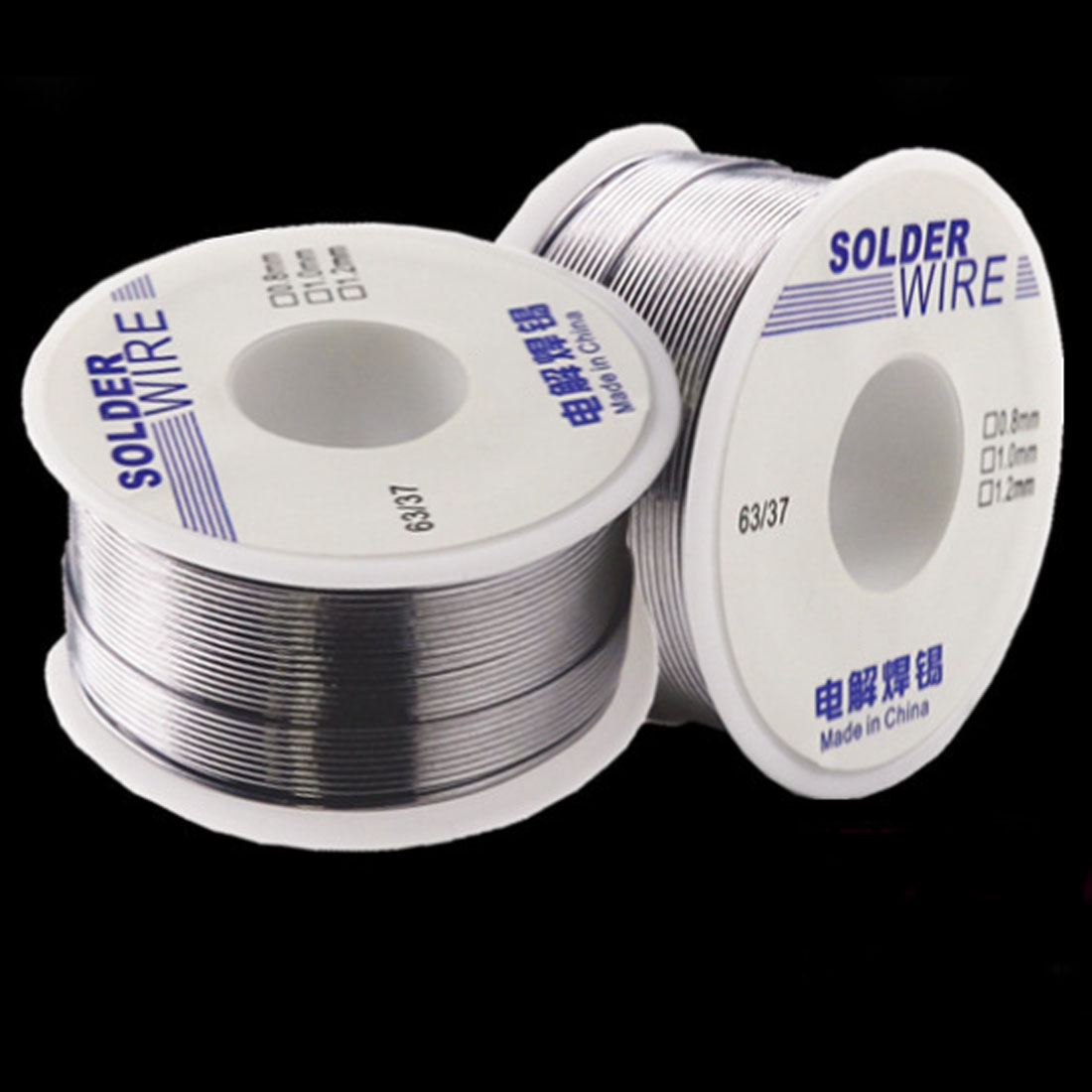 1Pc Industrial Solder Wire 63/37 50g 1.0mm/0.8mm 2.0-2.3 % Flux Melt Rosin Core Welding Tin Lead Tin Wire Roll
